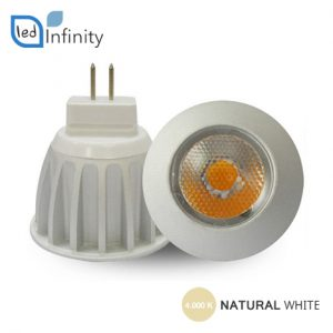 lampadina led 3w 12v chip sharp luce naturale attacco mr11