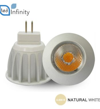 lampadina led 3w 12v chip sharp luce naturale attacco mr11