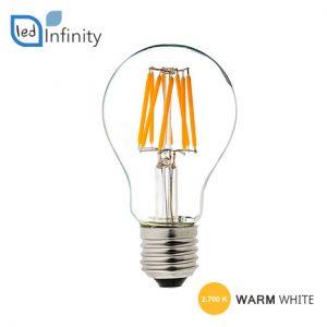 lampada led attacco grande e27 8w filamento